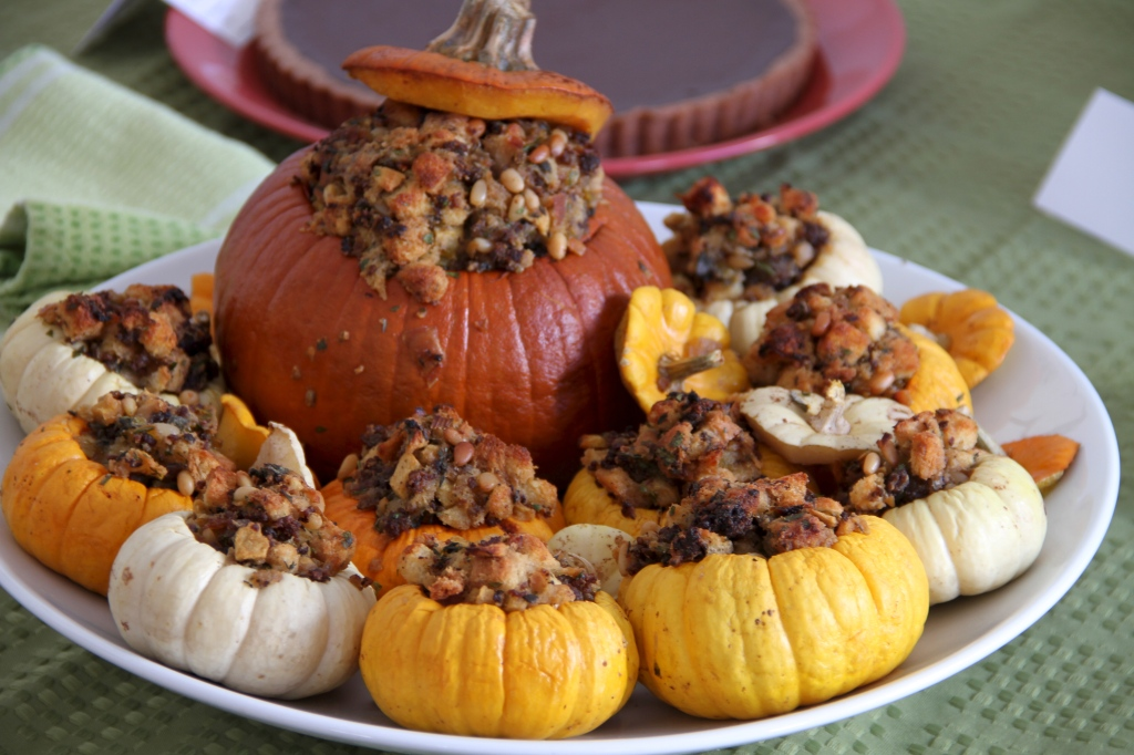 Thanksgiving:  Stuffed Mini Pumpkins